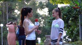 Sport și muzică împreună cu energica Julia Sandu! Află cum se menține interpreta în formă