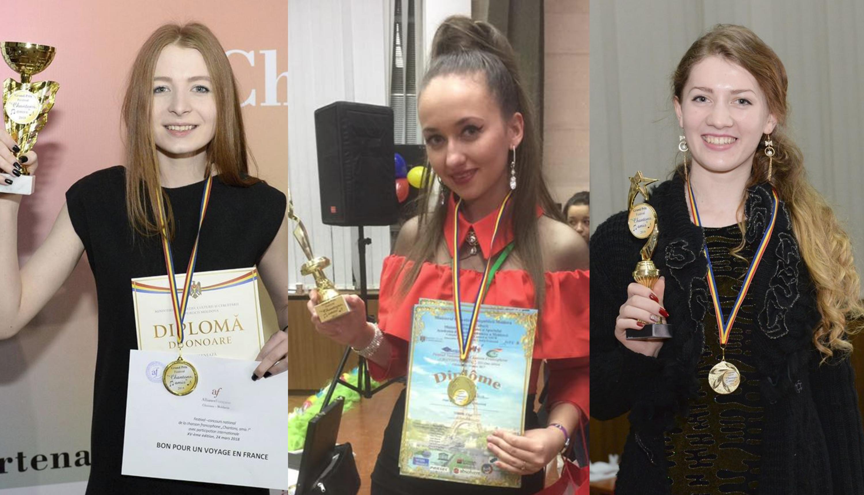 """Ele sunt câștigătoarele ultimelor trei ediții a Festivalului-concurs Național Francofon """"Chantons, Amis!"""""""