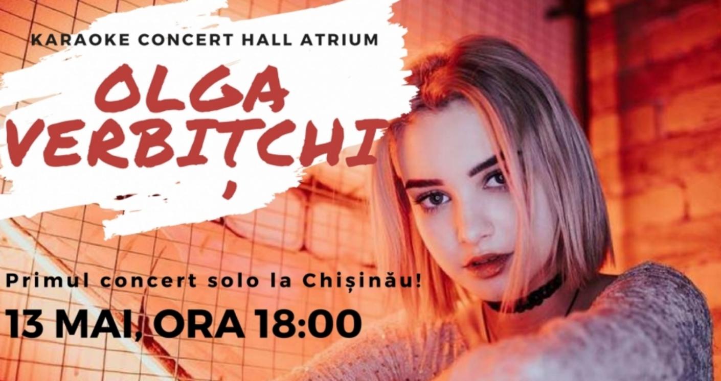 Olga Verbițchi va susține primul concert solo la Chișinău!