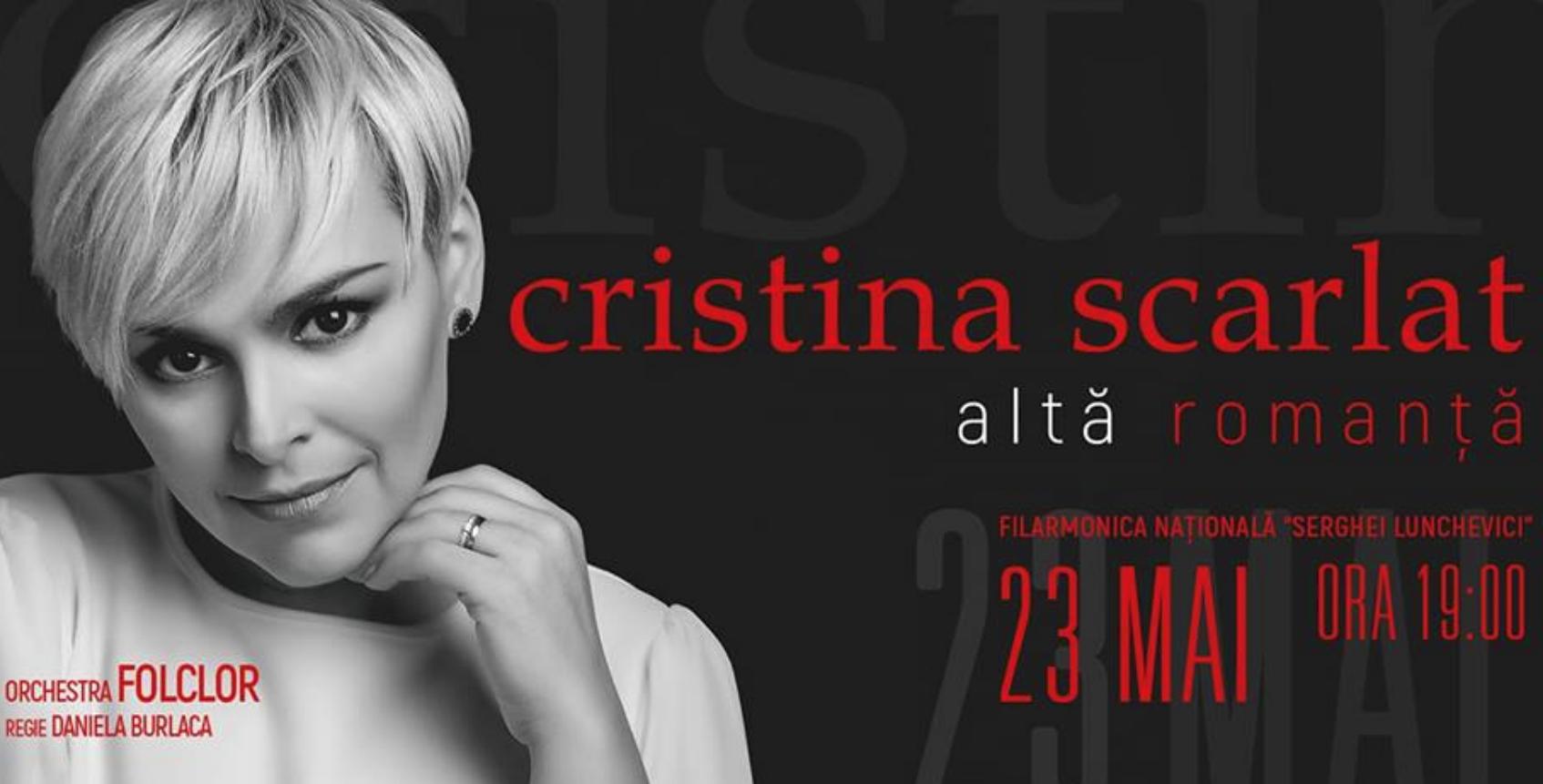 Cristina Scarlat te invită la spectacolul ei muzical – ALTĂ ROMANȚĂ!