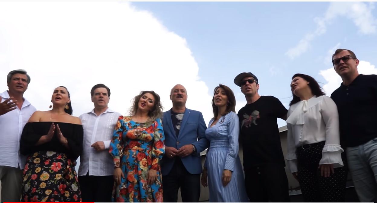 """Nu poți să nu plângi! Sub bagheta lui Oleg Baraliuc și iscusința a doisprezece   artiști s-a lansat piesa – """"Îngeri cu halate albe"""""""